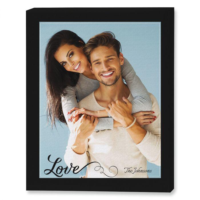 Love Portrait Custom Photo Canvas
