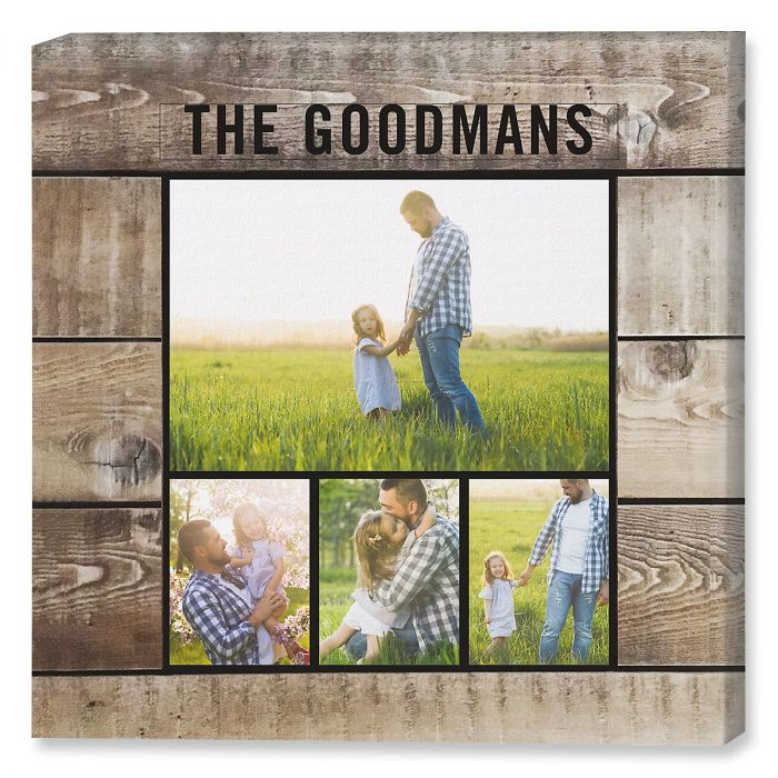 Shiplap Collage Custom Photo Canvas