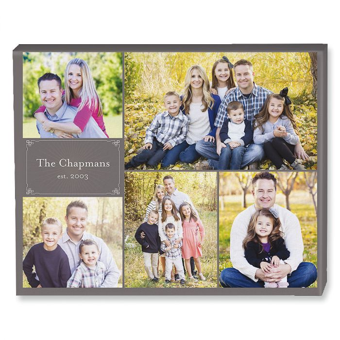 Established Collage Custom Photo Canvas