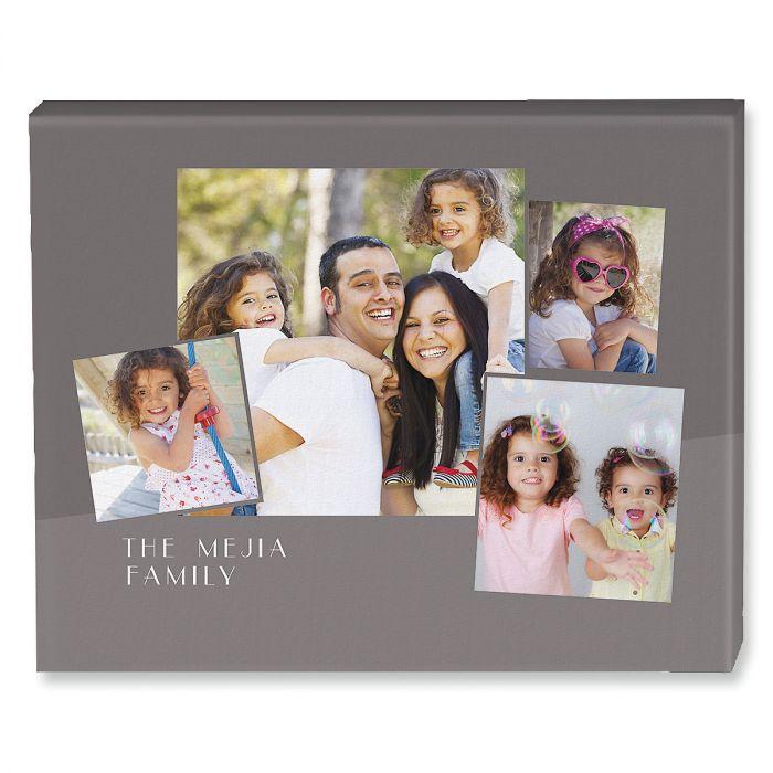 Family Name Collage Custom Photo Canvas