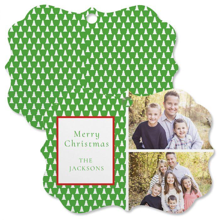 Green Tree Custom Photo Ornament - Bracket 2