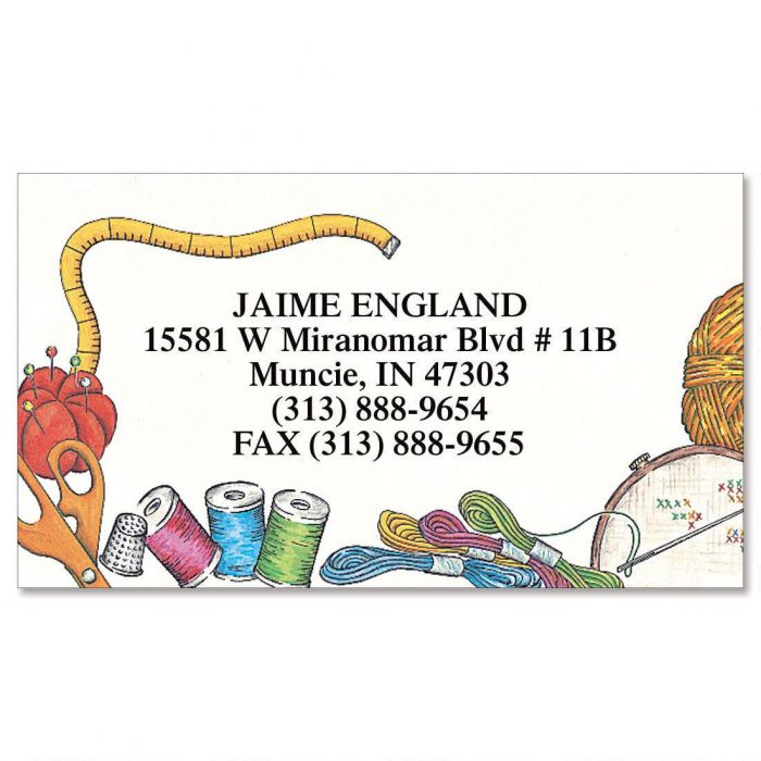 Needle Crafts  Business Cards