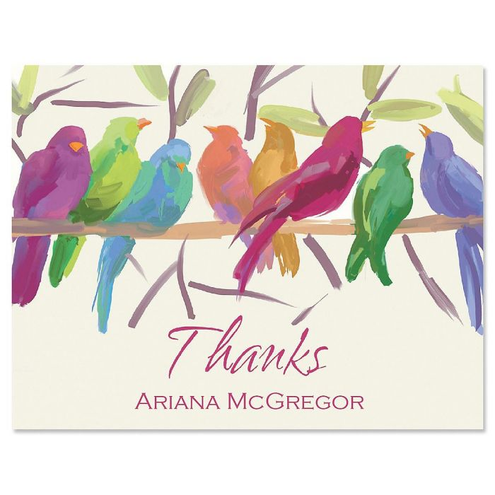 Flocked Together Custom Thank You Cards