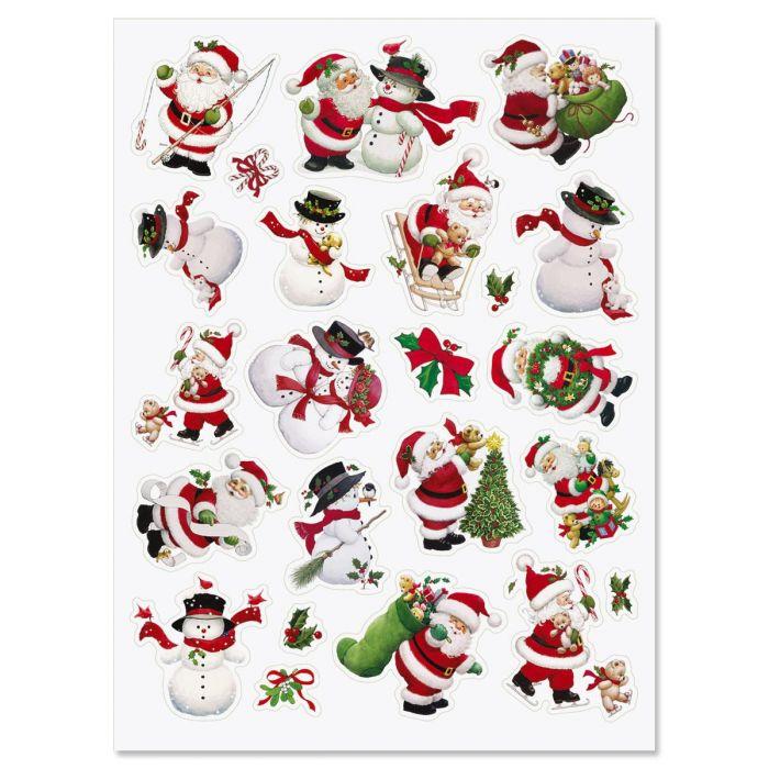 Santa & Snowman Stickers - Buy 1, Get 1 Free