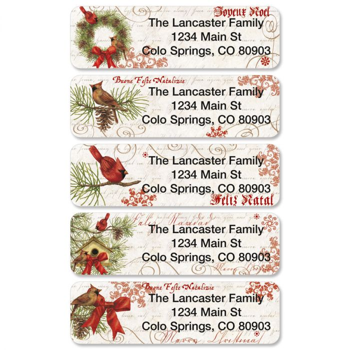 Joyelle Rolled Return Address Labels  (5 designs)