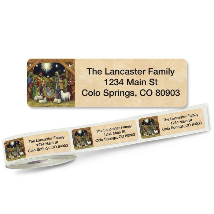 Nativity Rolled Return Address Labels