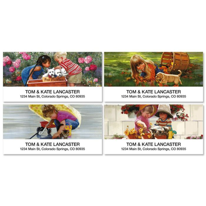 Age of Innocence Deluxe Address Labels  (4 Designs)