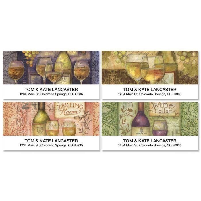 Wine Cellar Deluxe Return Address Labels  (4 Designs)