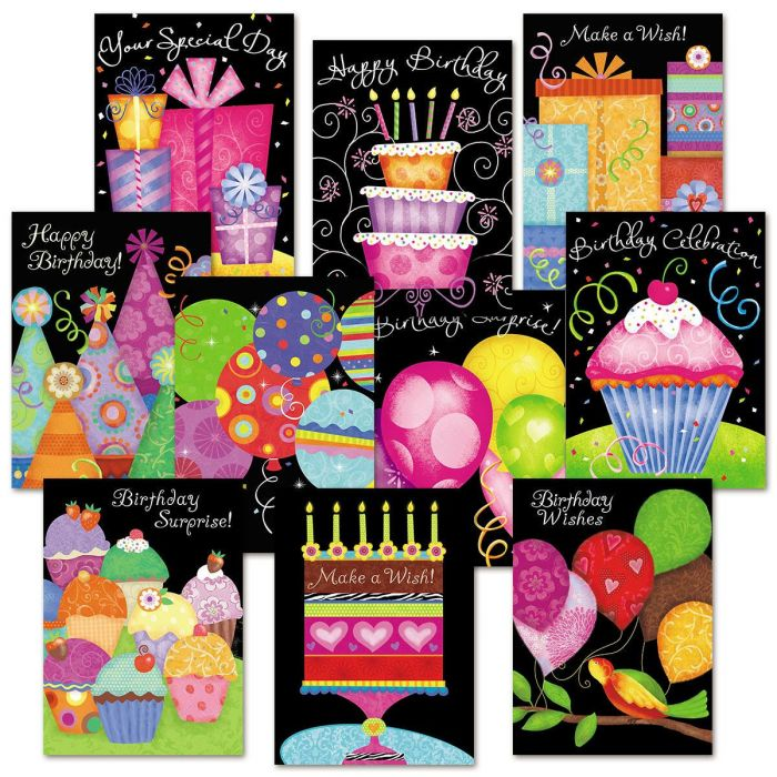 Birthday Brights Birthday Card Value Pack Colorful Images