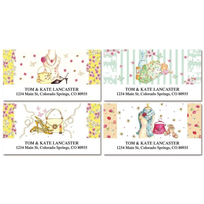 Fashionista Deluxe Return Address Labels (4 Designs)