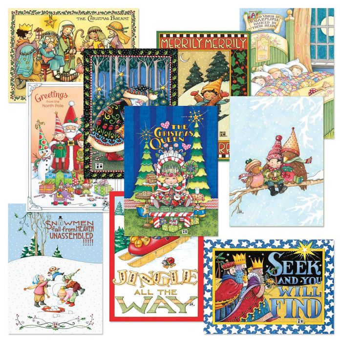 Mary Engelbreit® Christmas Cards Value Pack