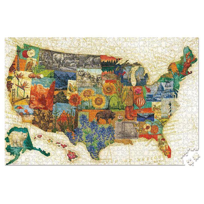 Vintage USA Travel Jigsaw Puzzle