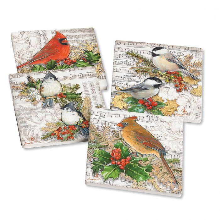 Winter Song Holiday Coasters