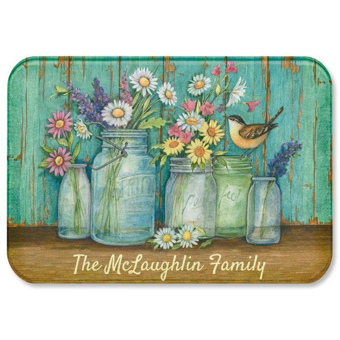 Flower Jars Custom Cutting Board