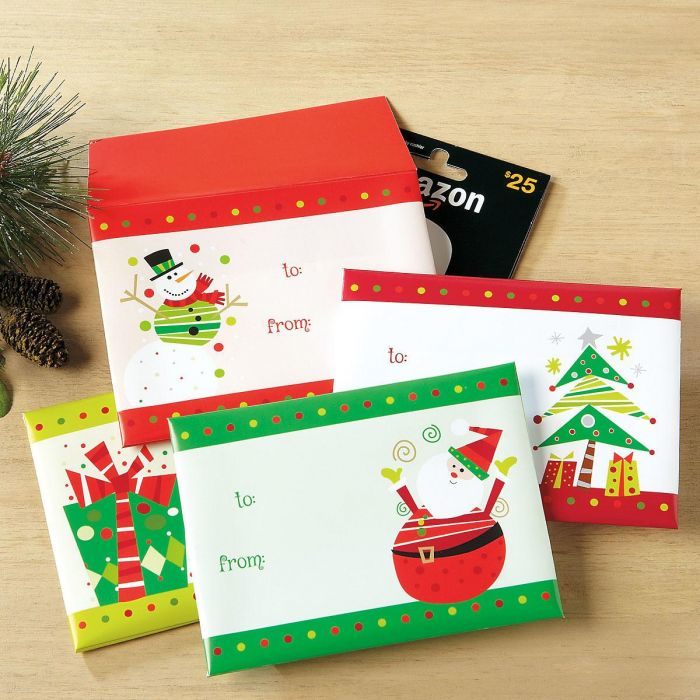 Festive Gift Card Envelopes