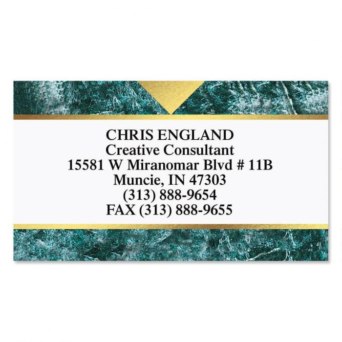 Marble & Gold Foil Business Cards
