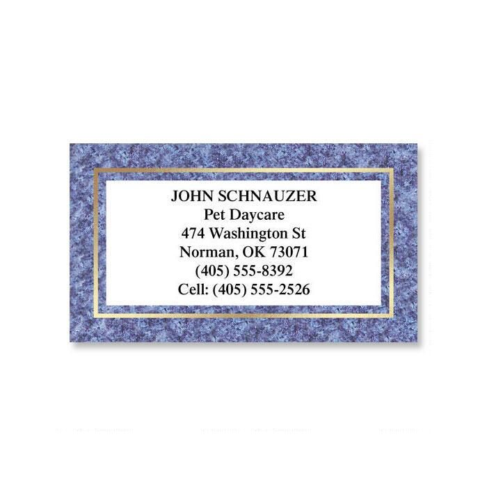 Granite & Gold  Foil Business Cards