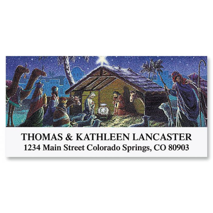 Nativity  Deluxe Return Address Labels