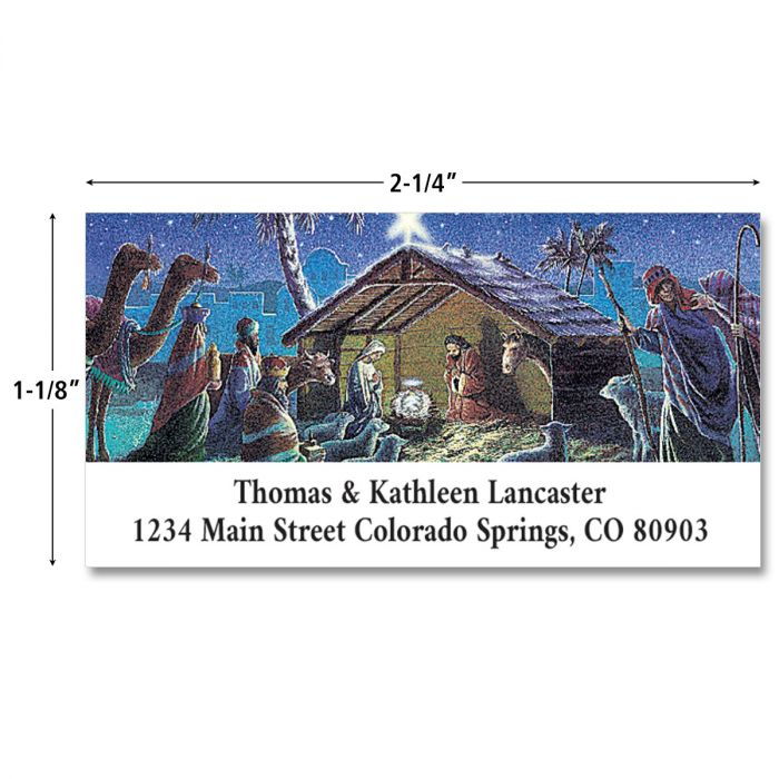 Nativity  Deluxe Return Address Labels