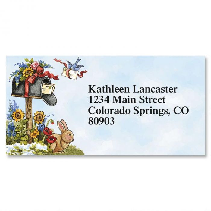 Hare Mail Border Return Address Labels