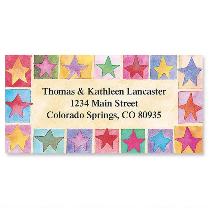 Stars on Parade Border Return Address Labels