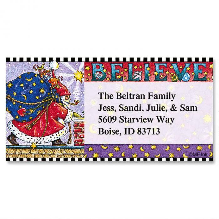 Believe  Border Return Address Labels