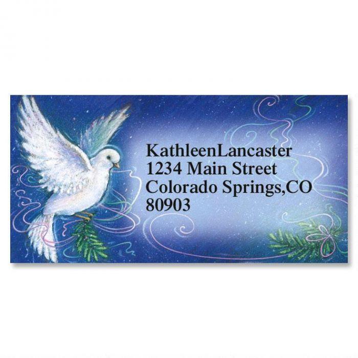 Spirit of Peace Holiday Border Return Address Labels