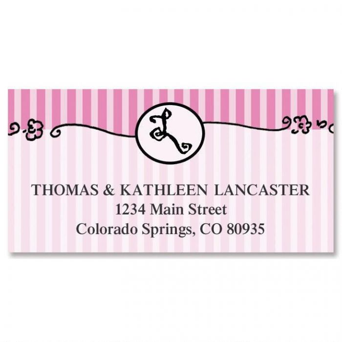Parisian Initial Border Return Address Labels