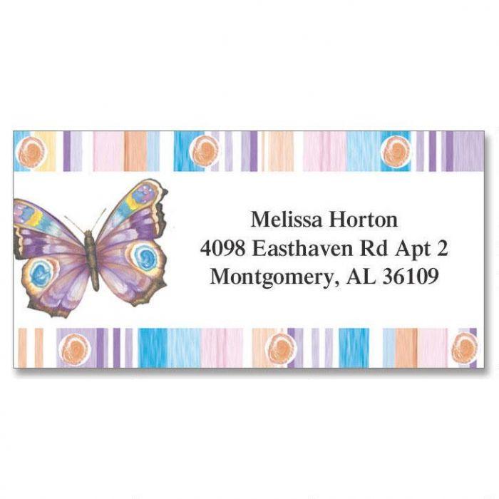 Butterfly Fantasy Border Return Address Labels