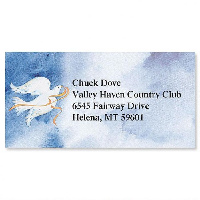 Peace Dove Border Address Labels