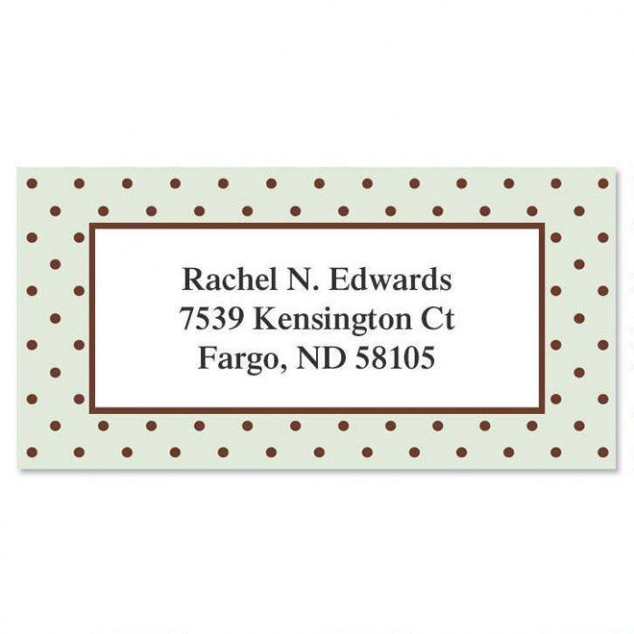 Celadon Border Return Address Labels