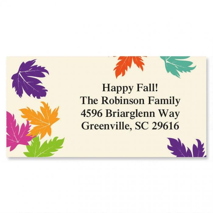 Touch of Fall  Border Return Address Labels