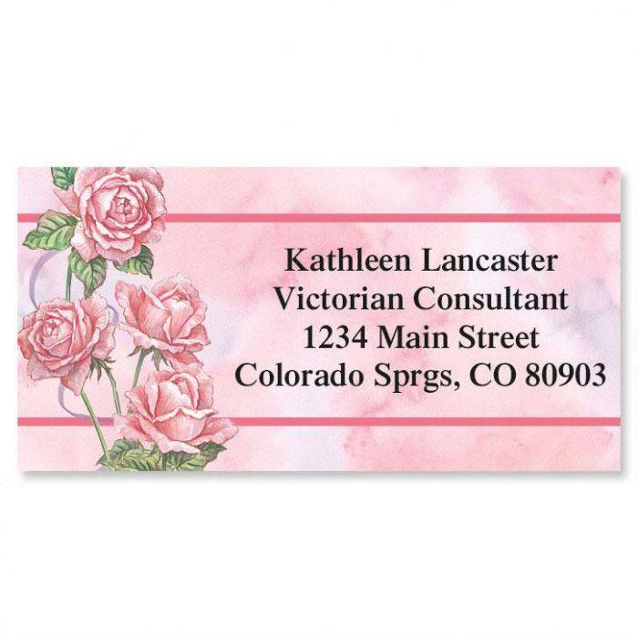 Roses & Ribbons Border Return Address Labels