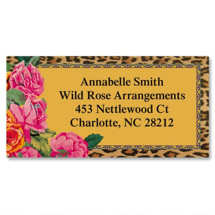 Wild & Rosie Border Return Address Labels