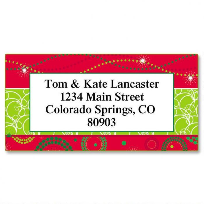 Merry Magic Christmas Border Return Address Labels
