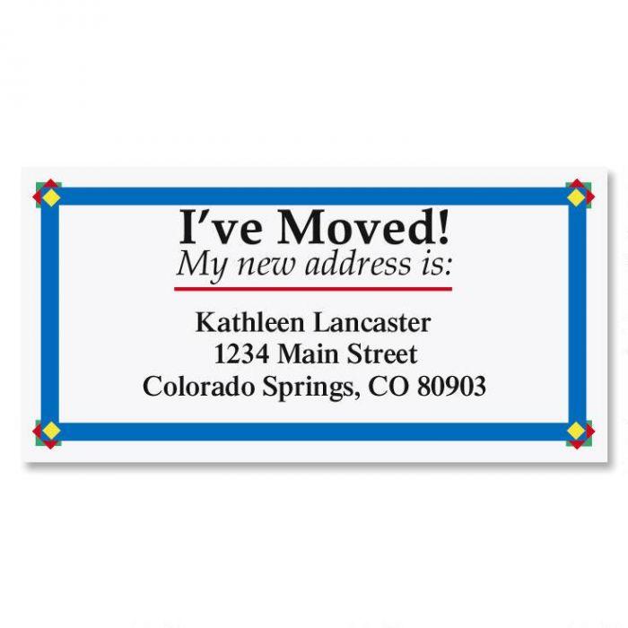 I've Moved Border Return Address Labels