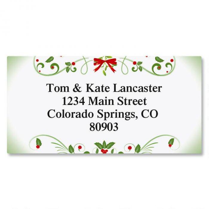 Mistletoe Magic Christmas Border Return Address Labels