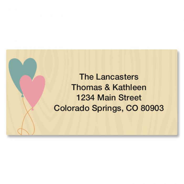 Natural Border Return Address Labels