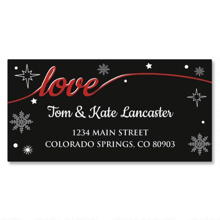 Christmas Love Border Return Address Labels