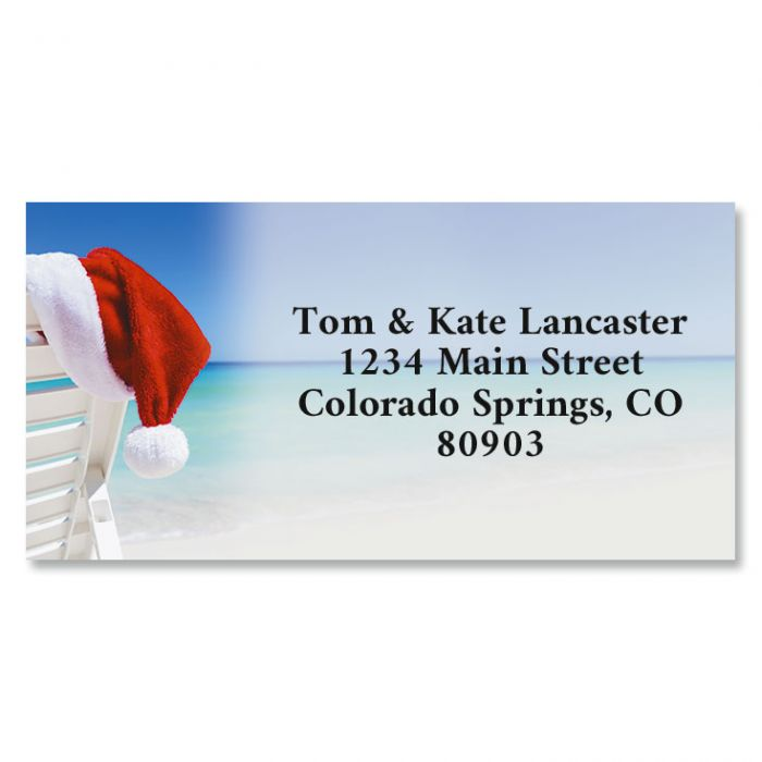 Christmas Vacation Border Return Address Labels