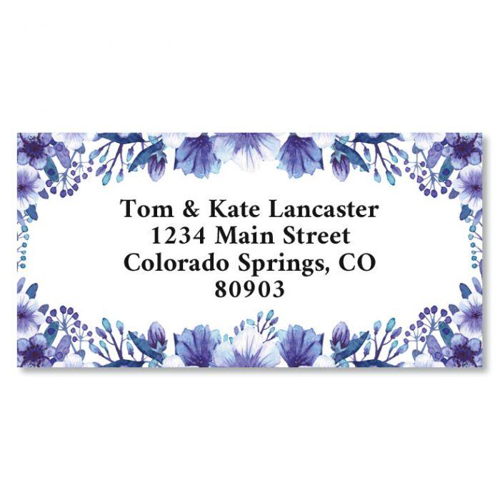 Violet Border Return Address Labels
