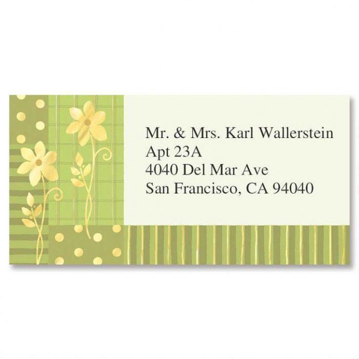 Gilded Field Gold Foil Border Return Address Labels