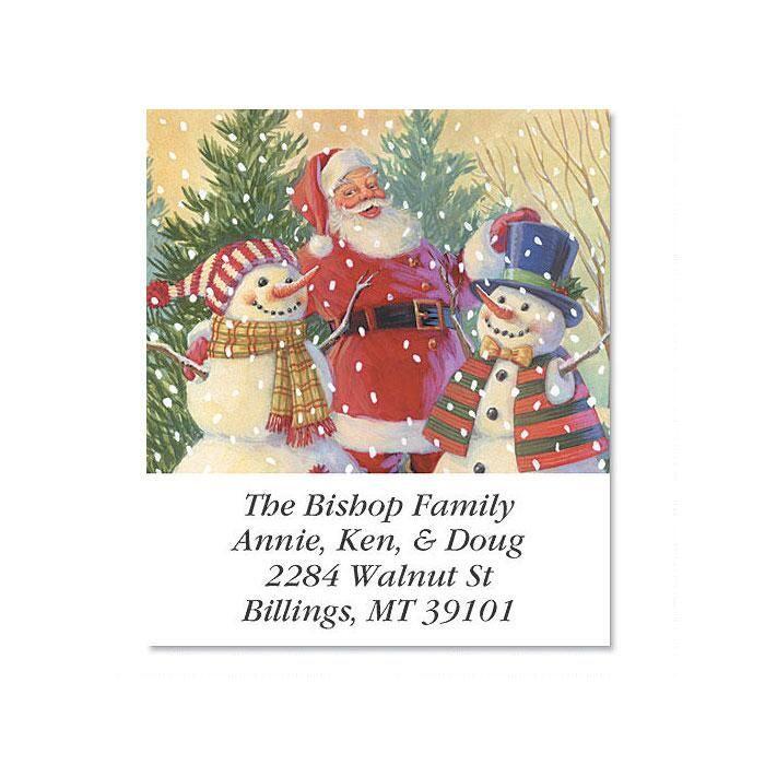 Santa's Snowmen  Select Return Address Labels