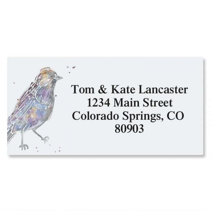 Twitter Foil Border Return Address Labels