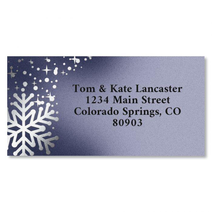 Special Delivery Border Foil Christmas Address Labels