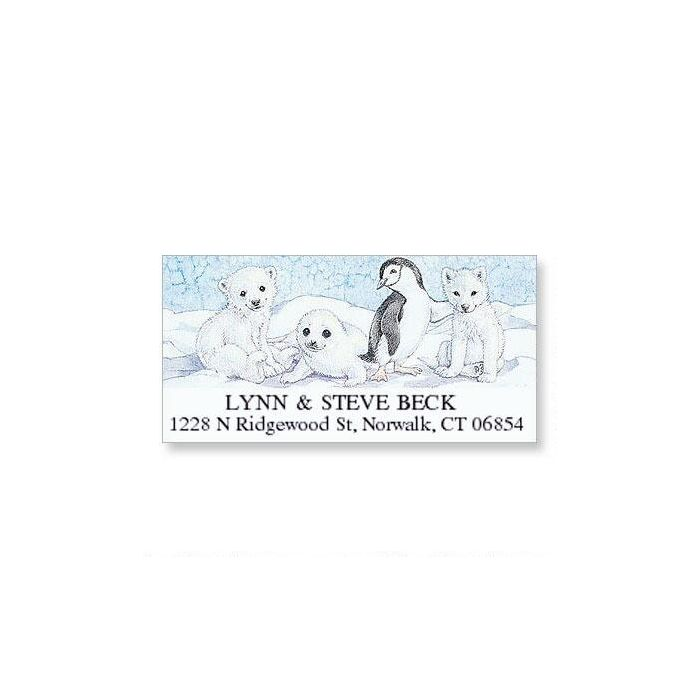 arctic pals deluxe holiday address labels colorful images