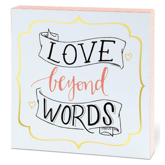 Love Beyond Words Wall Plaque