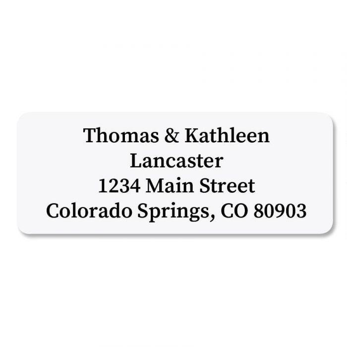 White Rectangle  Premier Return Address Labels