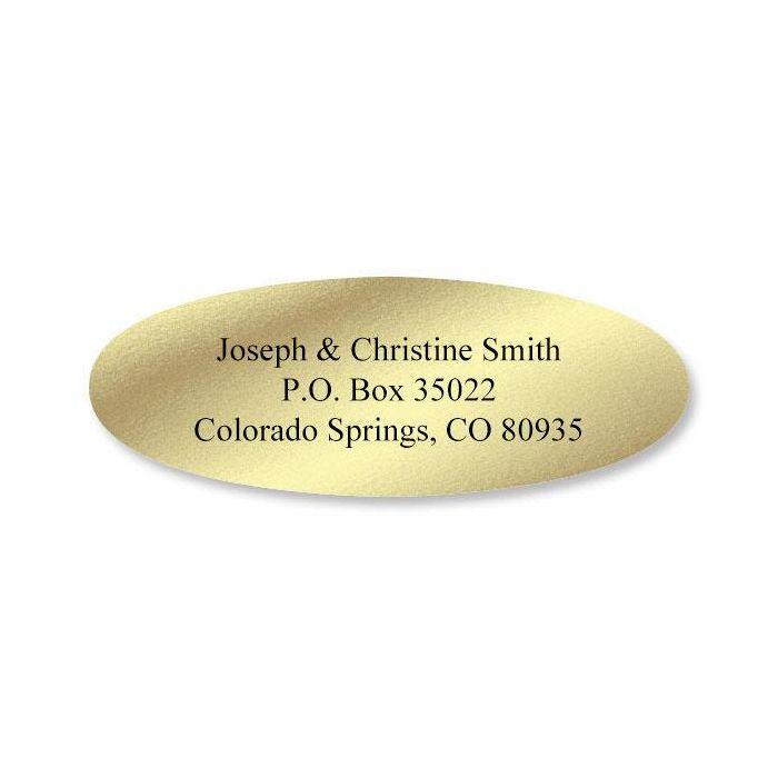 Foil  Oval Return Address Labels