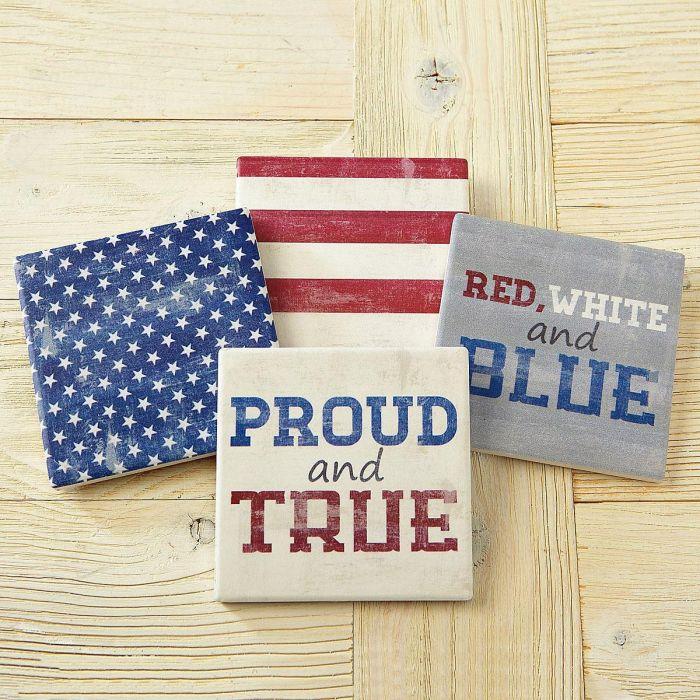 Patriotic Flag Coasters